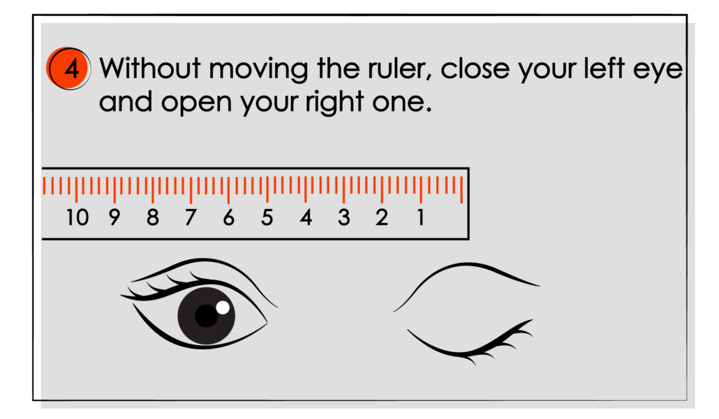 How to Measure Your Pupillary Distance (PD) illustrations 05